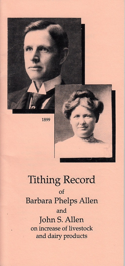 Tithing Record of Barbara Phelps Allen and John S. Allen