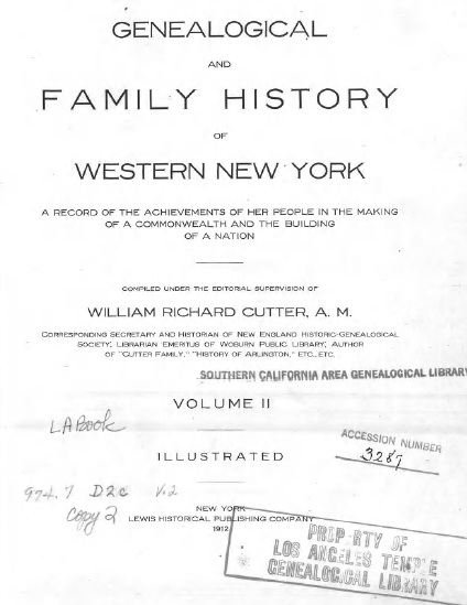 Genealogical and family history of western New York : a record of the achievements of her people in the making of a commonwealth and the building of a nation