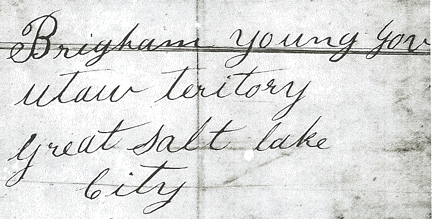 Peter Shirts Letter to Brigham Young reporting explorations